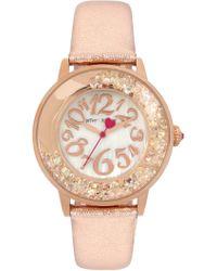 Betsey Johnson - Women's Floating Crystal Watch, 38mm - Lyst
