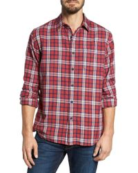 Grayers - Winslow Slub Plaid Twill Sport Shirt - Lyst