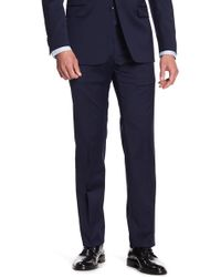 "Tommy Hilfiger Tyler Modern Fit Th Flex Performance Suit Separates Pants - 29-34"" Inseam - Blue"