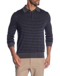 Brooks Brothers - Stripe Merino Wool Long Sleeve Polo - Lyst