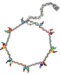 Uno De 50 - Rocky Pendant Chain Link Bracelet - Lyst