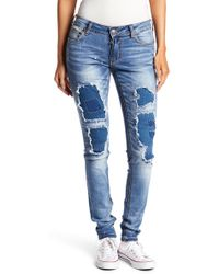 Affliction - Raquel Patchwork Skinny Jeans - Lyst
