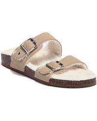 Madden Girl - Brando Faux Fur Lined Slide Sandal - Lyst