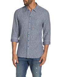 John Varvatos - Neil Ditsy Stripe Reversible Slim Fit Shirt - Lyst