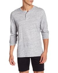 Reigning Champ - Long Sleeve Henley - Lyst