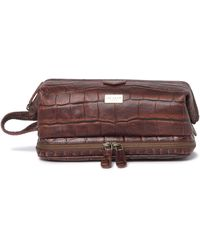 Ted Baker Anchor Toiletry Bag In Brn-choc At Nordstrom Rack - Multicolor