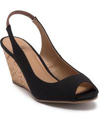 Call It Spring Aristata Wedge Slingback Sandal - Black
