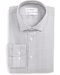 Calibrate - Trim Fit Stretch Non-iron Check Dress Shirt - Lyst