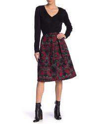 Scotch & Soda - Patterned Knee Length A-line Skirt - Lyst