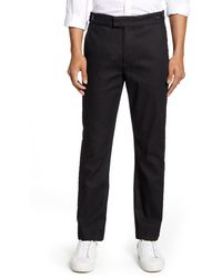 7 For All Mankind 7 For All Mankind Slim Fit Tuxedo Trouser - Black