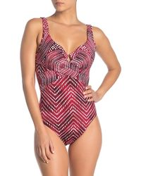 Miraclesuit Babylon Crisscross Panel One-piece Swimsuit - Red