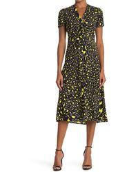 Diane von Furstenberg Cecilia Ruched Crepe Midi Dress - Multicolor