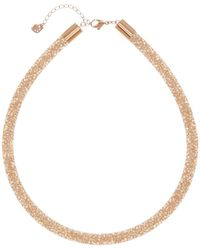 Swarovski | Stardust Crystal Filled Mesh Necklace | Lyst
