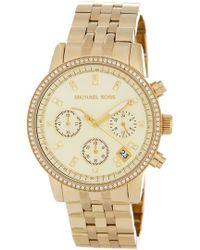MICHAEL Michael Kors Women's Classic Chronograph Bracelet Watch, 35mm - Metallic