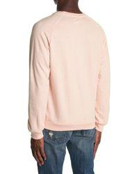 Trunks Surf & Swim Terry Knit Crew Neck Sweater - Pink
