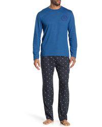 Original Penguin Shirt & Pant 2-piece Pyjama Set - Blue