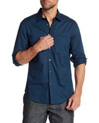 John Varvatos - Slim Fit Patterned Shirt - Lyst
