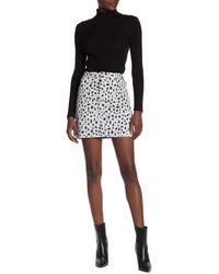 ATM Leopard Carpenter Mini Skirt - Black