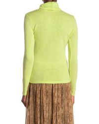 Moon River Fitted Turtleneck Top - Green