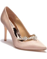 Badgley Mischka - Venetia Satin Pump - Lyst