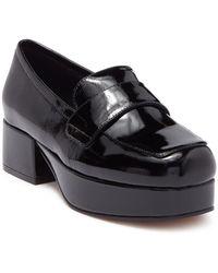 Jeffrey Campbell Patent Platform Loafer - Black