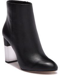 cc1a7d92720 Steve Madden Jeez Leather Block Heel Boot in Black - Lyst