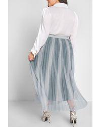 ModCloth Tulle'd You So Midi Skirt - Blue