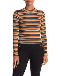 Lush - Striped Sweater Top - Lyst