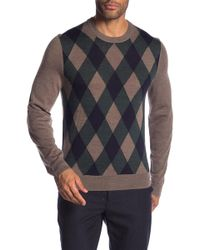 Brooks Brothers - Merino Wool Front Print Crew Neck Sweater - Lyst
