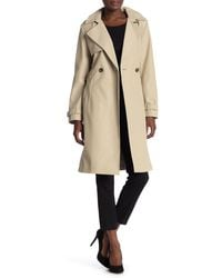 DKNY Double Breasted Trench Coat - Natural