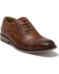 Steve Madden Leather Oxford Dress Shoe - Brown