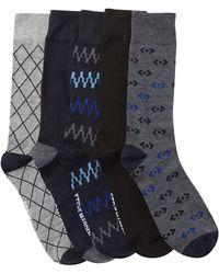 Steve Madden - Rose Stripe Crew Socks Box Set - Pack Of 5 - Lyst