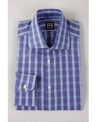 Ike Behar - Plaid Woven Shirt With Barrel Cuffs - Lyst