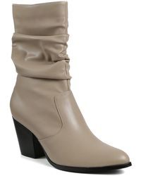 Catherine Malandrino Sparky Slouchy Stack Heel Bootie - Brown