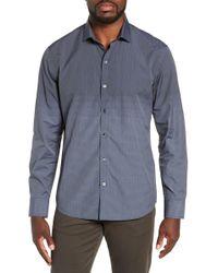 Zachary Prell Hong Regular Fit Sport Shirt - Blue