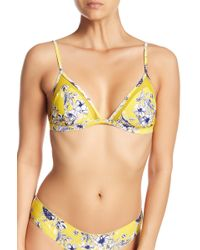 Rip Curl - Lovely Day Mesh Triangle Bikini Top - Lyst