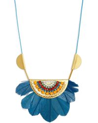 Sandy Hyun - Tucson Feather Pendant Necklace - Lyst