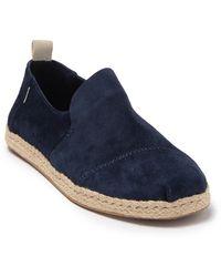 TOMS Deconstructed Alpargata Espadrille Sneaker - Blue