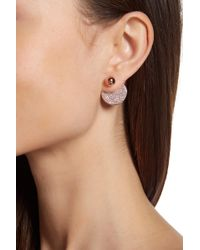 Vince Camuto - Pave Disc Front/back Earrings - Lyst