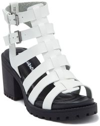 Dirty Laundry Fun Stuff Caged Sandal - White