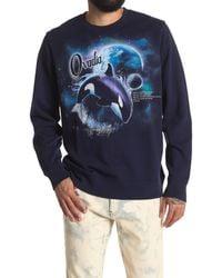 Ovadia Killer Whale Graphic Sweatshirt - Blue