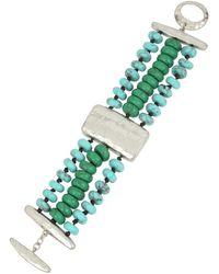 Robert Lee Morris - Turquoise Multi-row Bracelet - Lyst