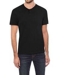 Xray Jeans Short Sleeve Henley - Black