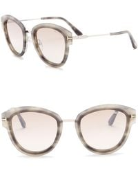 Tom Ford - Mia 52mm Rounded Sunglasses - Lyst