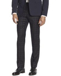 "Brooks Brothers - Plaid Flat Front Wool Trousers - 30-34"" Inseam - Lyst"
