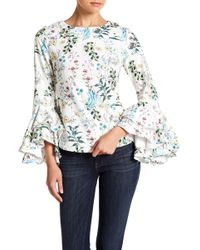 Gracia - Floral Layered Sleeve Top - Lyst