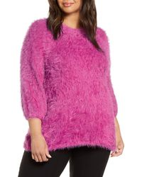 NIC+ZOE Cozy Up To Eyelash Sweater - Pink