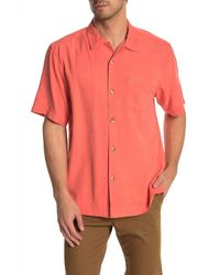 Tommy Bahama Al Fresco Tropics Short Sleeve Silk Hawaiian Shirt - Multicolour