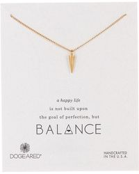 Dogeared - 14k Gold Plated Sterling Silver Balance Spike Pendant Necklace - Lyst