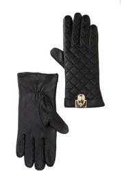 Michael Kors - Quilted Leather Gloves - Lyst